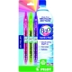Recycled B2P Colors Retractable pen with Gel Ink. Assorted 3 - pack