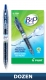 Recycled B2P Retractable pen with Gel Ink. Dozen Box