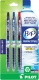 Recycled B2P Retractable pen with Gel Ink in Black, Blue and Red Ink. 3 - pack