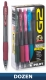 G2 07 Retractable Gel Ink pen. Dozen Box with Assorted Colors
