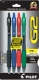 G2 07 Retractable Gel Ink pen in Black, Blue, Red and Green Inks. 4 - pack