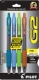 G2 07 Retractable Gel Ink pen in Teal, Periwinkle, Lime Green and Caramel. 4 - pack