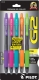 G2 07 Retractable Gel Ink pen in Pink, Purple, Turquoise, Orange and Lime Green.  5 - pack